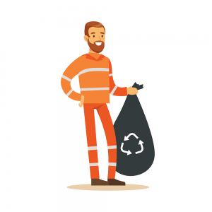 cartoon-man-holding-black-recycling-bag-full-of-waste