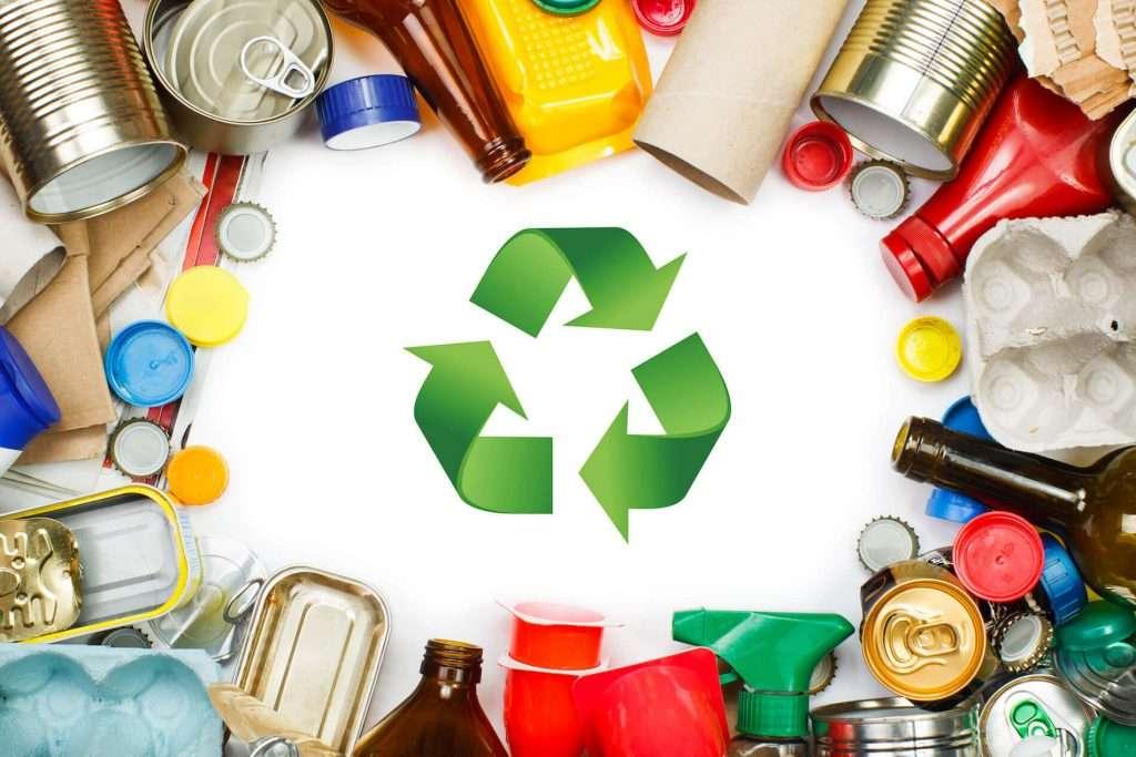 cheap skip bin hire green recycling arrows inside waste circle