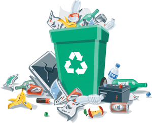 household-waste-overflowing-from-green-recycling-bin