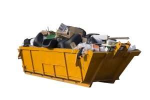 junk-removal-skip-overflowing-with-waste