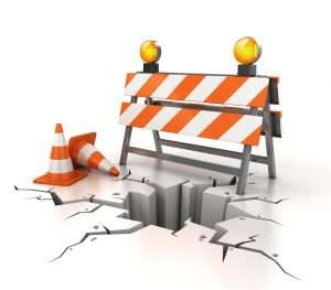 orange-and-white-traffic-cones-next-to-construction-sign-above-hole-in-ground-cartoon