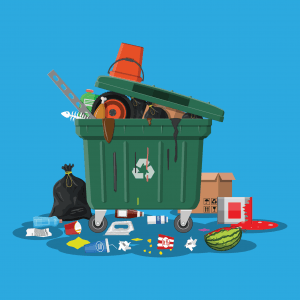 overflowing-plastic-garbage-dumpster-waste-cartoon-blue-background