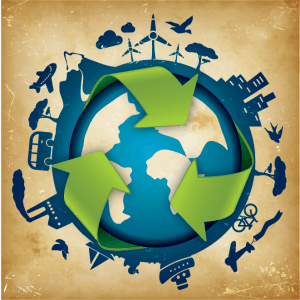 waste-recycling-green-arrows-on-cartoon-of-earth
