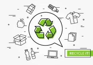 green-recycling-logo-surrounded-by-recyclable-materials-and-waste
