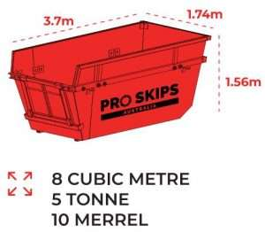 8 Cubic Metre Skip Bin Size Guide